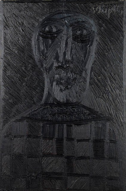 , 'Untitled (Black head with checkerboard shirt),' 1965, Grosvenor Gallery