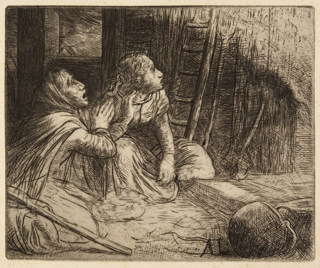 Alphonse Legros, 'Opfer des Brandes / Burnt Offering', 1890-1910, Hans den Hollander Prints