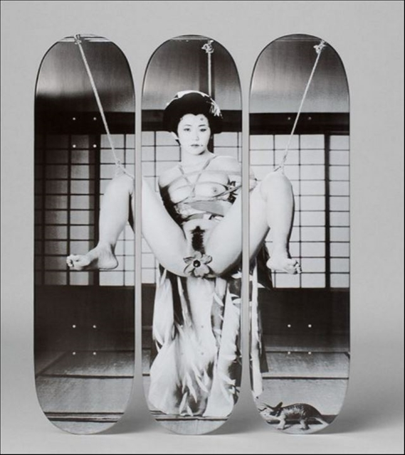 , 'Geisha (Limited Edition, Hand Numbered Skate Deck Tryptich),' ca. 2014, Alpha 137 Gallery