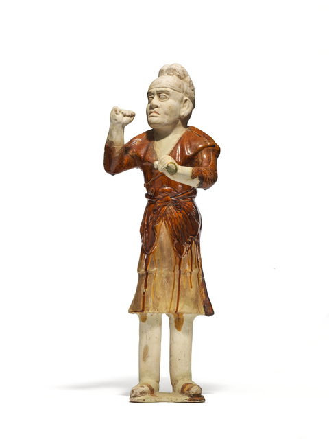 , 'An amber and cream-glazed pottery groom,' Tang Dynasy (618-906 AD), Littleton & Hennessy Asian Art