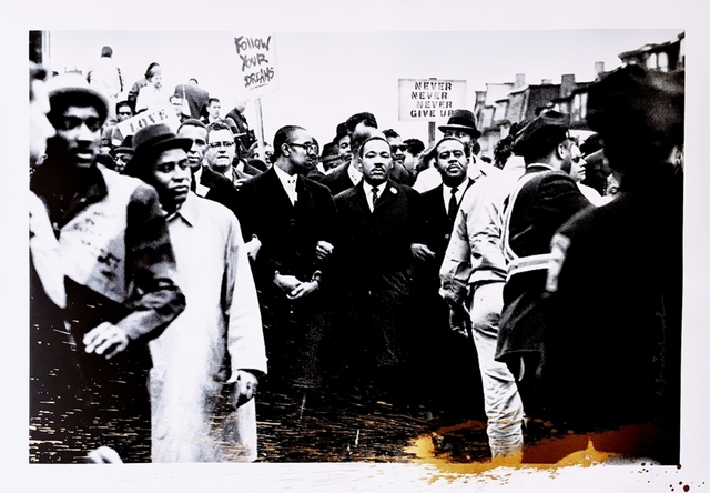 Mr. Brainwash, 'Homage to Martin Luther King, Gold Edition (Selma to Montgomery)', 2017, Alpha 137 Gallery Auction