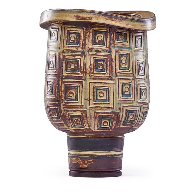 Wilhelm Kåge, 'Large Farsta Vase, Sweden', Mid-20th C., Rago/Wright