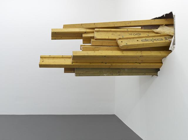 , 'durchgestossen,' 2013, Galerie Christian Lethert