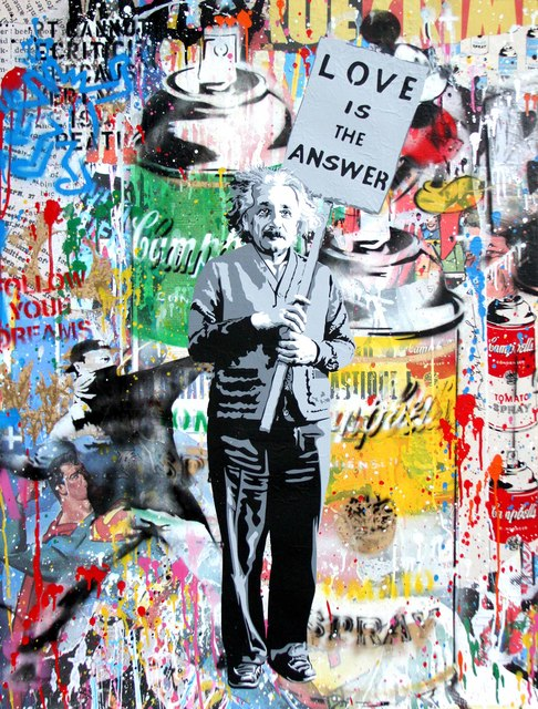 , 'Einstein - Love Is The Answer ,' 2017, Denis Bloch Fine Art