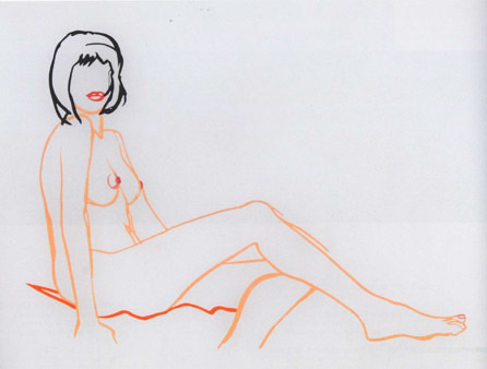 , 'Monica Sitting, One Leg on the Other,' , Galerie Andreas Binder