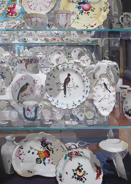 , 'Large white porcelain with birds,' , Panter & Hall