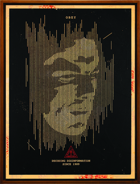 Shepard Fairey (OBEY), 'Decoding Disinformation (Black)', 2015, Underdogs Gallery