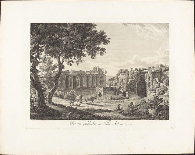 Albert Christoph Dies, 'Terme publiche in villa Adriana', 1794, National Gallery of Art, Washington, D.C.