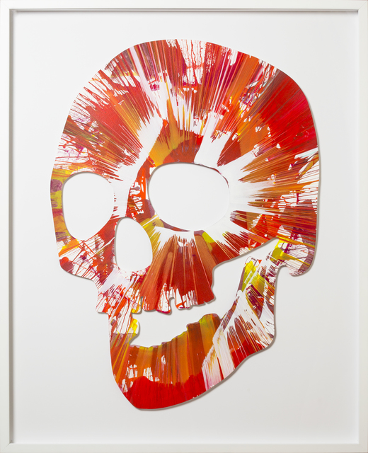 , 'Spin Painting - Red Skull,' 2009, RUDOLF BUDJA GALLERY