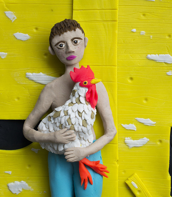 , ' Eric with Rooster (2001 by Shelby Lee Adams),' 2016, Kopeikin Gallery