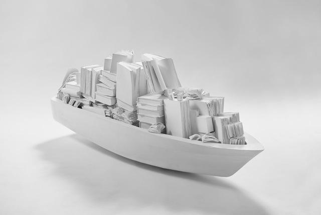 Lorenzo Perrone, 'L'arca', 2013, Sculpture, Books, Acrylic, Gres, Pencil, Galleria Ca' d'Oro