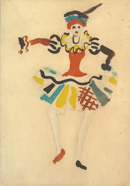 , 'Costume design for Igor Stravinsky's ballet Petrushka: Ballerina,' 1954, The Jewish Museum