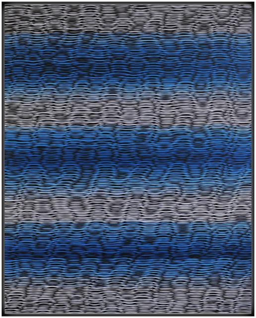 , 'Interference Wavelengths (Blue Bars),' 2014, Newzones