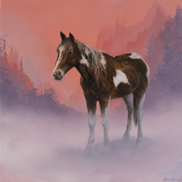 Brian Mashburn, 'Horse in Fog', 2020, Painting, Oil on panel, Abend Gallery