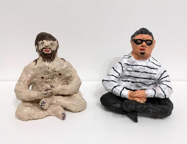 , 'Hippie Meditating, Cat Burglar Meditating,' 2017, Upfor