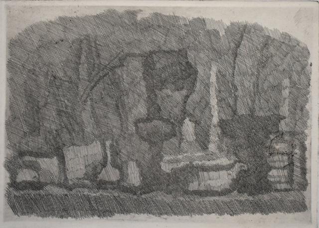 , 'Still Life with Vases, Bottles etc. on a Table | Natura Morta di Vasi, Bottiglie ecc. su un Tavolo,' 1929, Gilden's Art Gallery