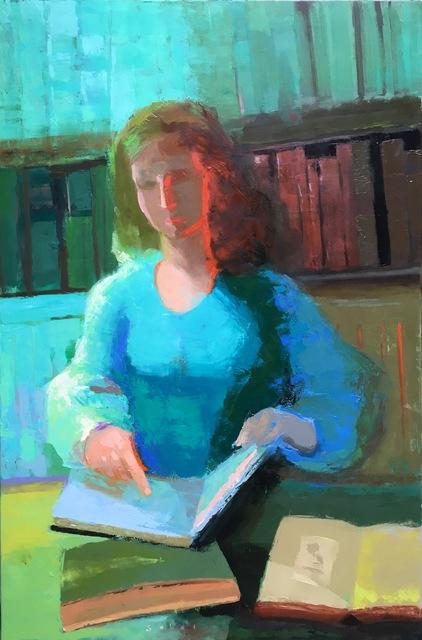Jonathan Sobol, 'Scholar in Her Library', 2016, M.A. Doran Gallery