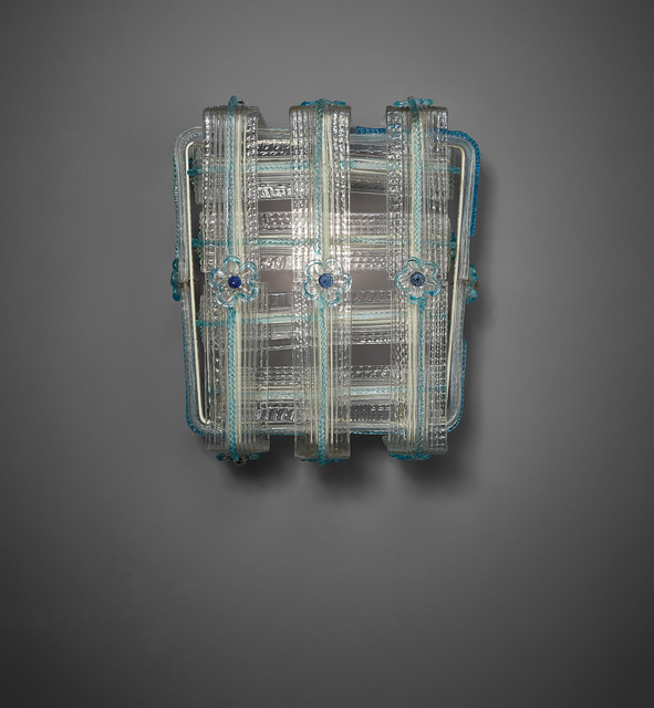 Venini, 'Wall light', circa 1950, Design/Decorative Art, Glass, painted steel., Phillips