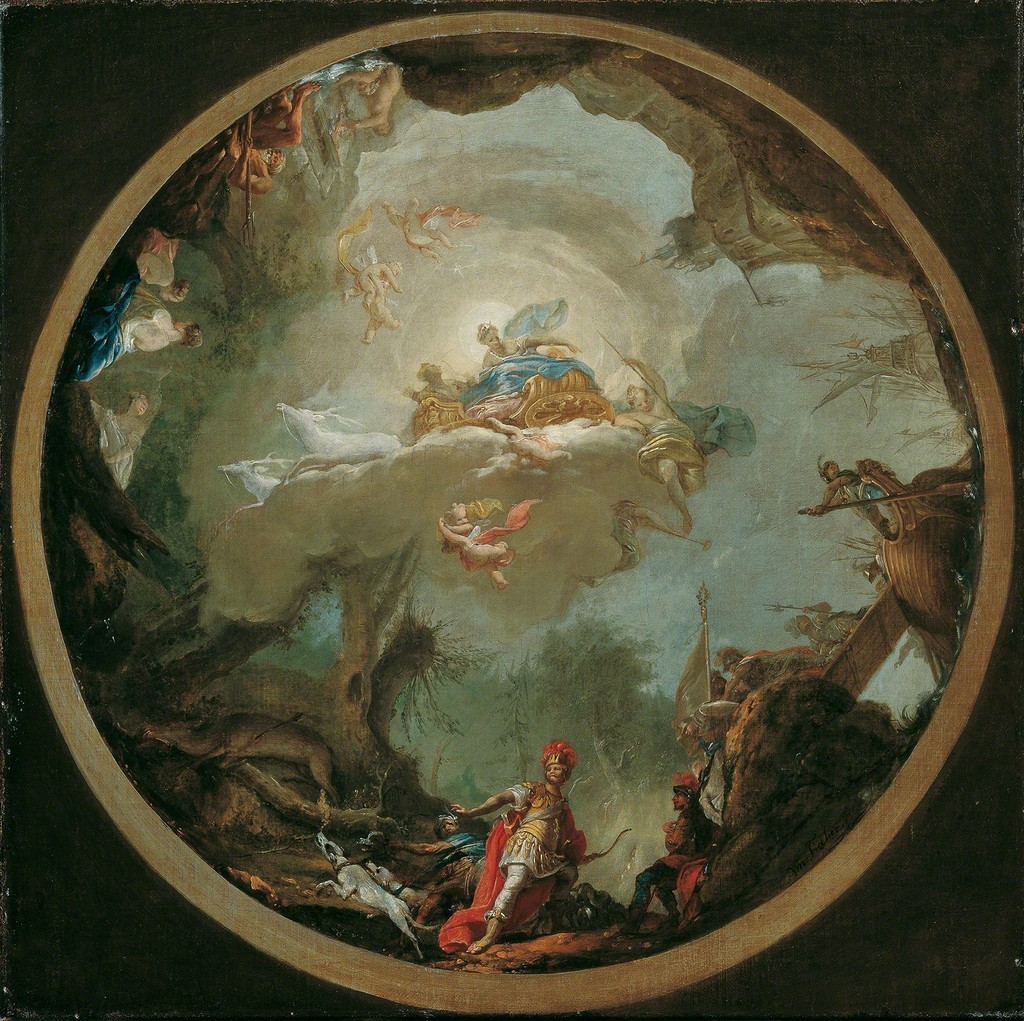 Agamemnon Hunting/ Study for the ceiling painting of the Diana Temple at Laxenburg of 1766, 1763, © Belvedere, Vienna