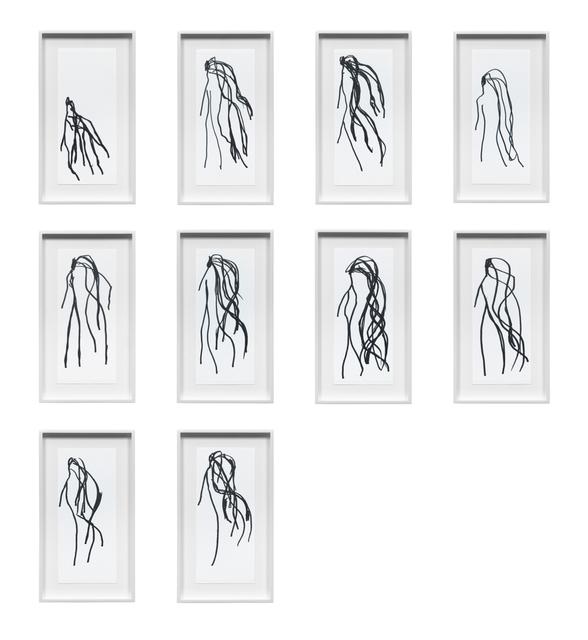 , 'Hair Drawings,' 2010, Galerie Buchholz