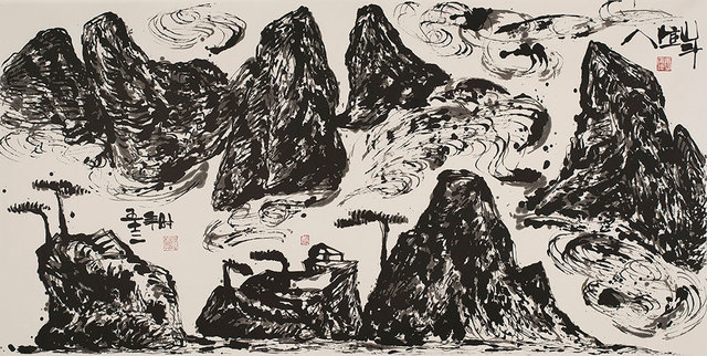 , 'Spiritual Mountains (No. 577),' 2010, Pékin Fine Arts
