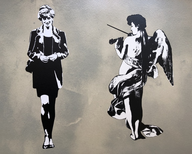 Blek le Rat, 'Diana In Paradise (Diana And The Angel) - Artist Proof', 2008, Vintage Deluxe