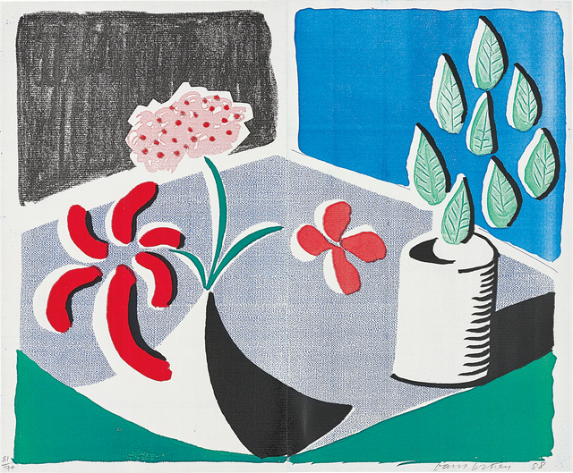 David Hockney, 'Red Flowers and Green Leaves, Separate, May', 1988, Phillips