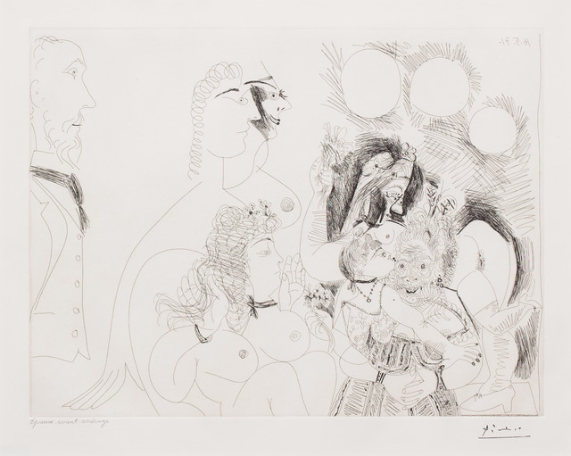 Pablo Picasso, 'La Fete de la Patronne..., from the 156 Series', 1971, Leslie Sacks Gallery