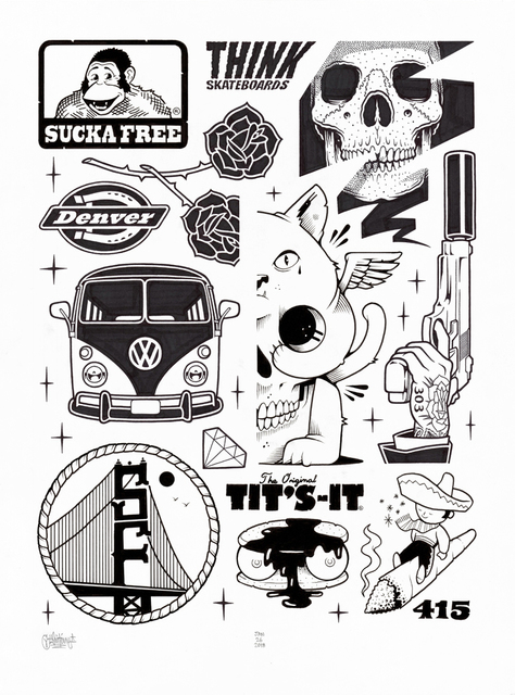 Mike Giant, 'Sucka Free - Collab with Jeremy Fish', 2019, Black Book Gallery
