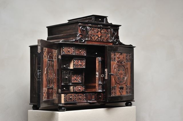 , 'Court cabinet with star marquetry,' Augsburg-ca 1620, Kunstkammer Georg Laue