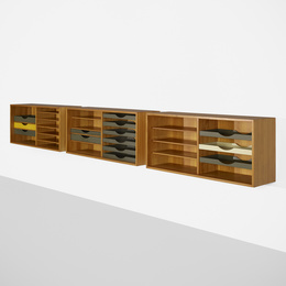 Wall-mounted cabinets, set of three