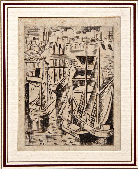 André Lhote, 'Le Port de Bordeaux (The Harbor of Bordeaux)', 1926, Wallector