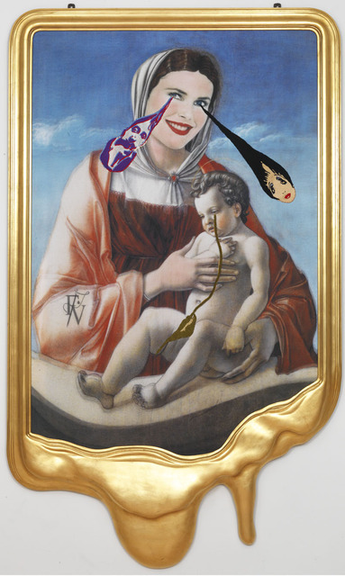 , 'CRYING PORTRAIT OF CHRISTIE BRINKLEY AS A RENAISSANCE MADONNA WITH HOLY CHILD (AFTER GIOVANNI BELLINI),' 2010, Gagosian