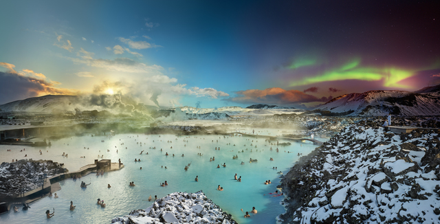, 'Blue Lagoon, Iceland, Day to Night,' 2019, Holden Luntz Gallery