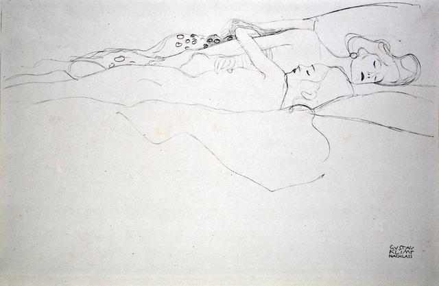 """Gustav Klimt, 'Study for """"Water Serpents II"""" [Fünfundzwanzig Handzeichnungen]', 1919, Jason Jacques Gallery"""