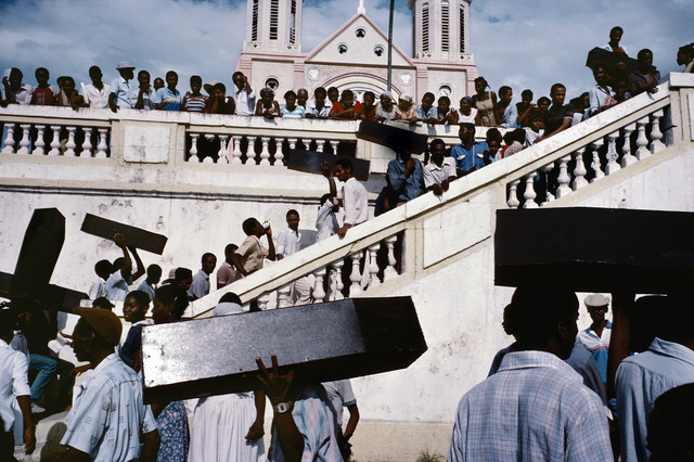 , 'A memorial for victims of army violence. Port-au-Prince. HAITI.,' 1987, Magnum Photos