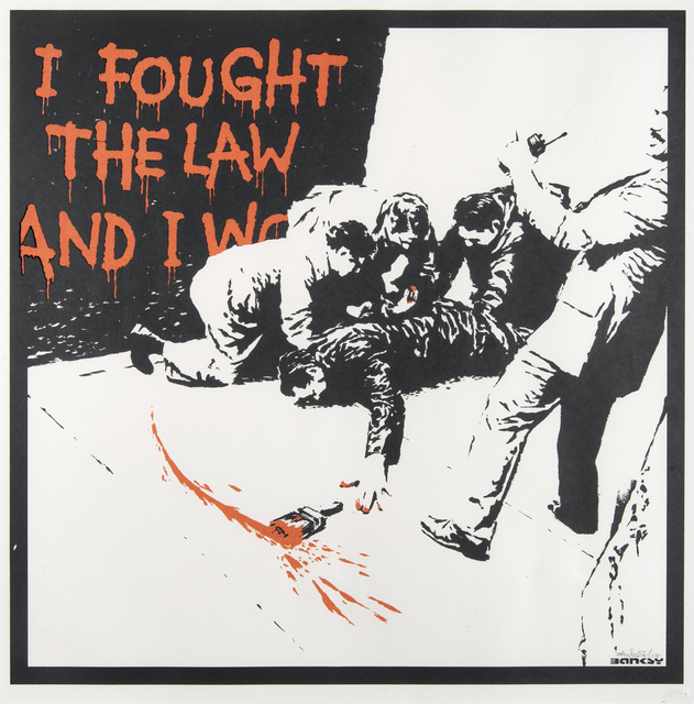 Banksy, 'I Fought The Law', 2004, Tate Ward Auctions