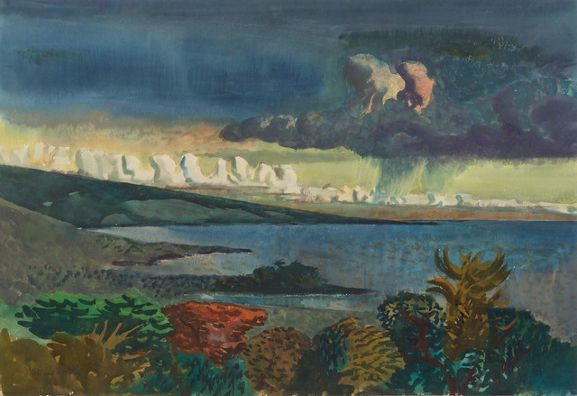 millard Sheets, 'Approaching Storm on the Kona Coast', 1951, Doyle