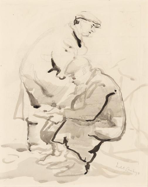 Isabel Bishop, 'Two Union Square Men', 1930, Doyle