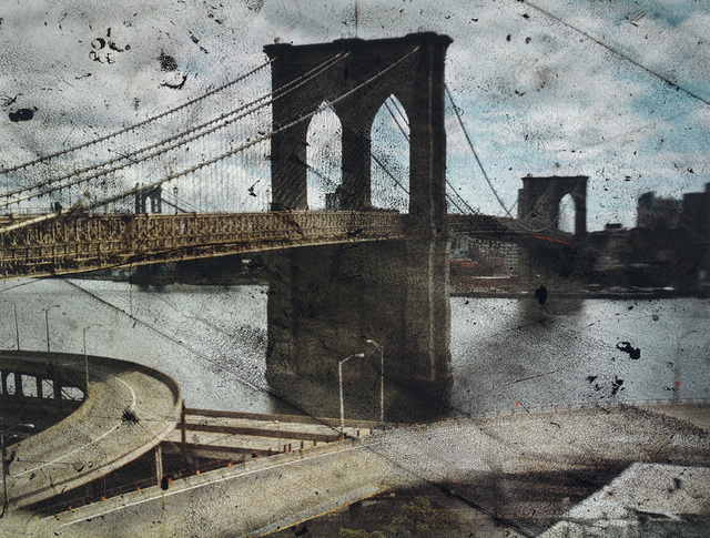 Abelardo Morell, 'Tent-Camera Image on Ground: Rooftop View of the Brooklyn Bridge', 2010, Phillips