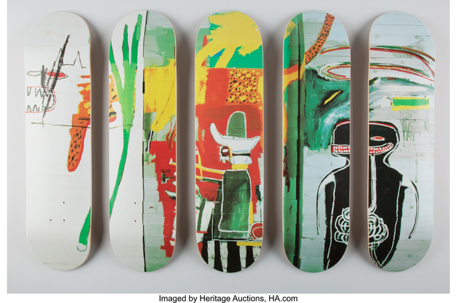 Jean-Michel Basquiat, 'Untitled, set of five skate decks (Open Edition)', 2016, Heritage Auctions