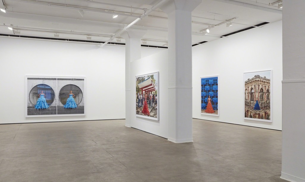 Installation view of Frank Thiel: 15 [Quince] at Sean Kelly, New York
