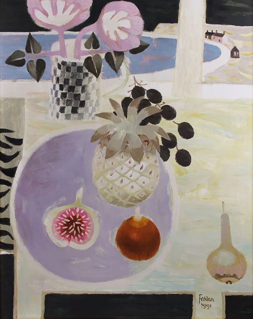 , 'Still Life with Fig and Pineapple,' 1991, Castlegate House Gallery