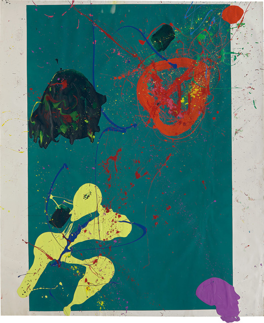 Sam Francis, 'Untitled', circa 1990, Painting, Acrylic and silkscreen ink on paper, Phillips