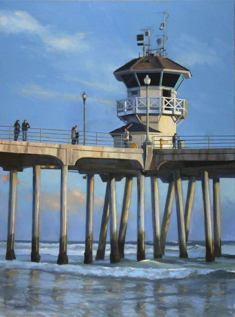 , 'Sundown Pier,' 2015, Sue Greenwood Fine Art