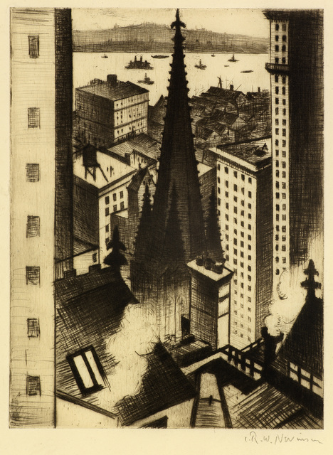 , 'The Temples of New York,' 1919, Osborne Samuel
