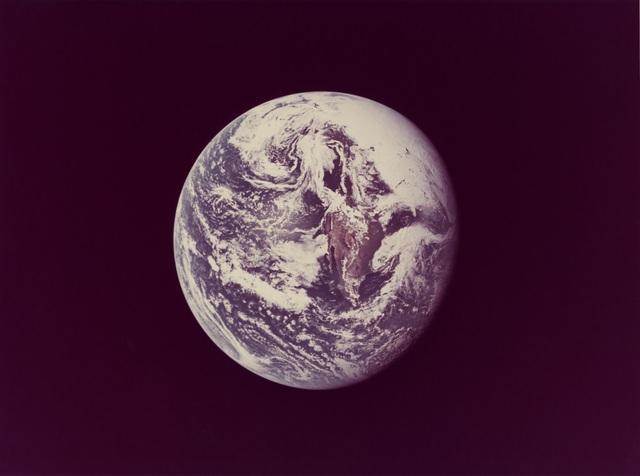 , 'Earth, Apollo10,' 18 May 1969, Repetto Gallery