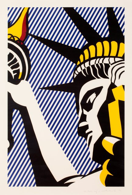 Roy Lichtenstein, 'I Love Liberty (C. 192)', 1982, Print, Screenprint in colors on Arches 88 paper, Taglialatella Galleries
