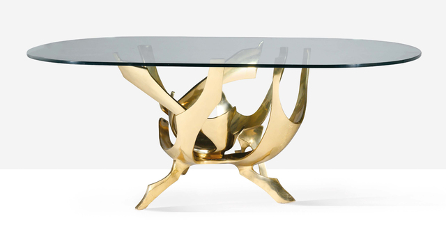 Fred Brouard, 'Dining table', 1976, Design/Decorative Art, Bronze, glass, Aguttes