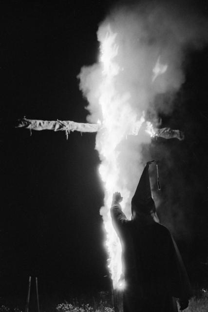 Constantine Manos, 'Ku Klux Klan (klansmen and burning cross), Columbia, South Carolina', 1952, Robert Klein Gallery